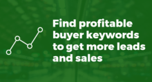Keyword research to find buyer keywords