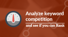 analyze keyword competition
