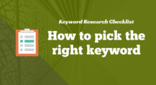 keyword research checklist