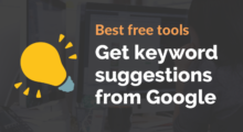 Google keyword suggestion tools